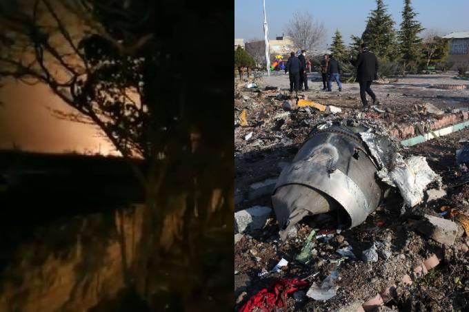 Vídeo postado pela agência Isna mostra queda de avião