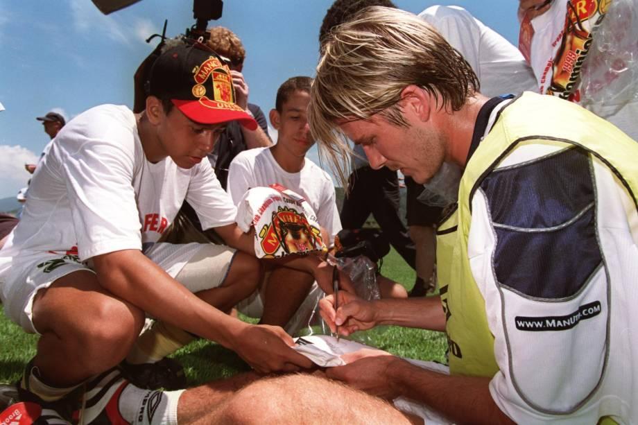A passagem do astro inglês David Beckham foi um dos principais atrativos do primeiro Mundial de Clubes organizado pela Fifa em 2000