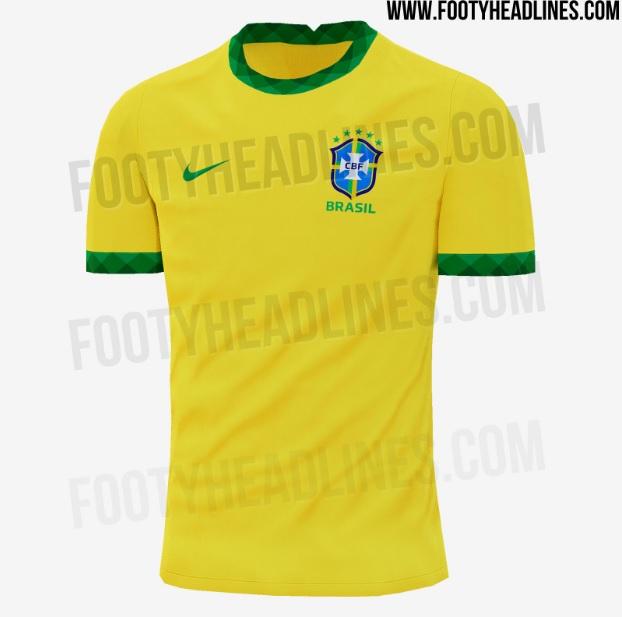 Esboço da camisa titular da seleção brasileira para 2020