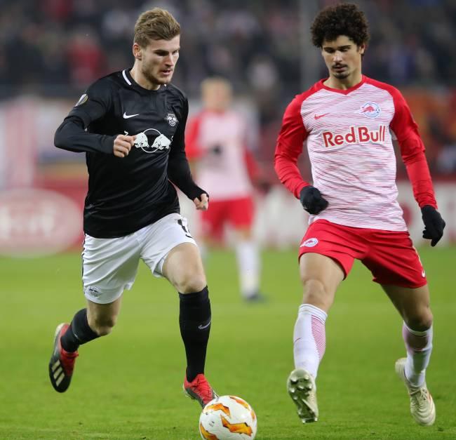 Red Bull Leipzig e Red Bull Salzburg se enfrentaram pela Liga Europa de 2018