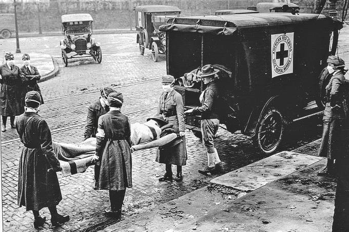 Red Cross Motor Corps On Duty