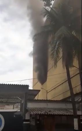 Incêndio atinge Cadeia Pública de Benfica