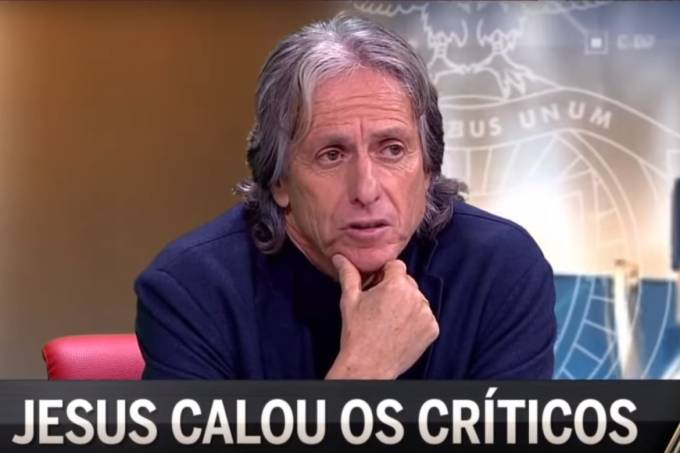 Jorge Jesus durante entrevista à CMTV
