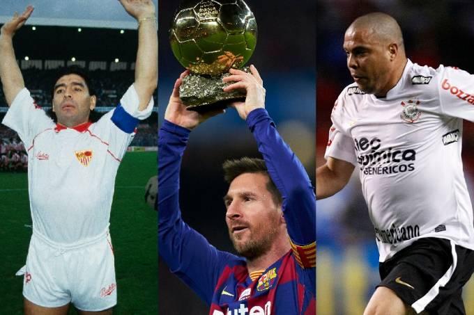 Maradona, Messi e Ronaldo aos 32 anos