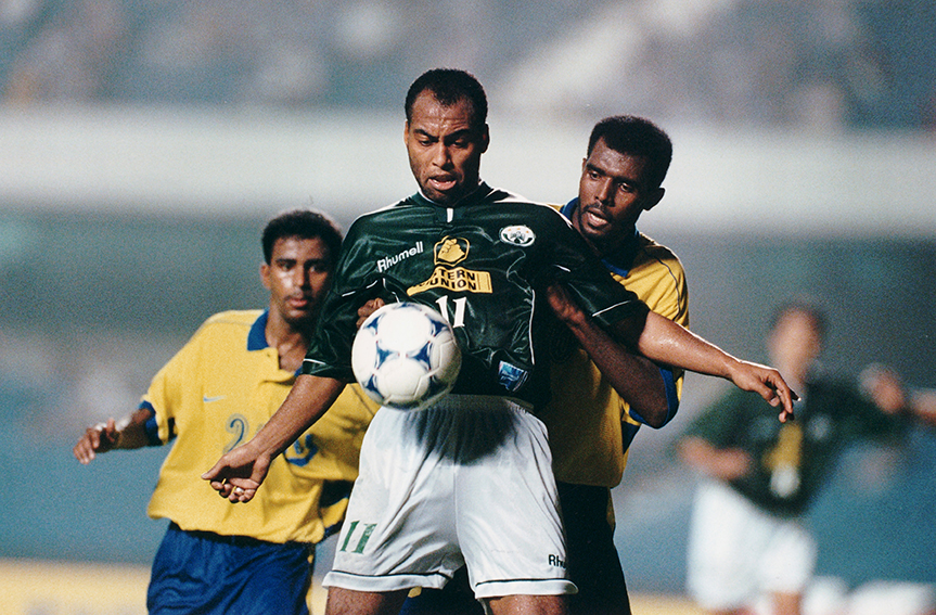 Khoubbache, do Raja Casablanca, de Marrocos, contra o Al Nassr, da Arábia Saudita, no Estádio do Morumbi