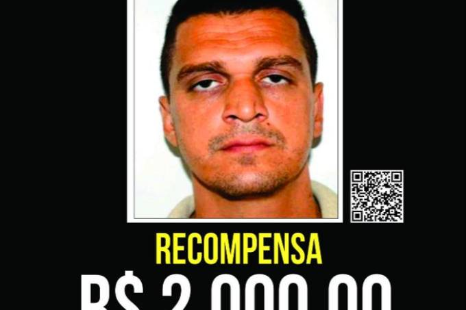 Cartaz de Eduardo Fauzi no Portal dos Procurados