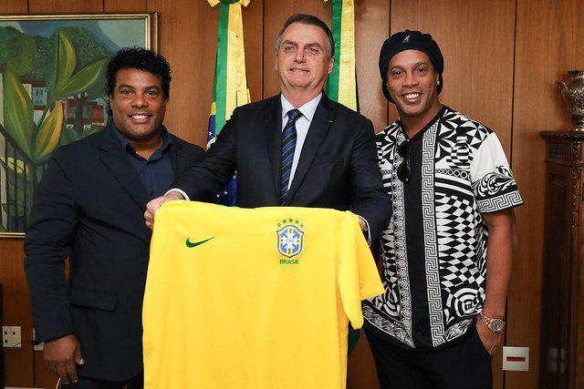 Ronaldinho e Bolsonaro
