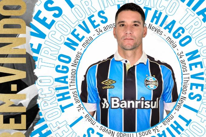 Thiago Neves foi confirmado como reforço do Grêmio