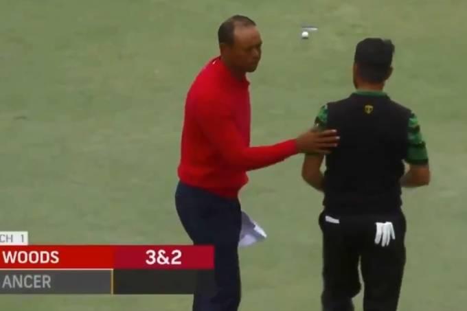Montagem sobre Tiger Woods