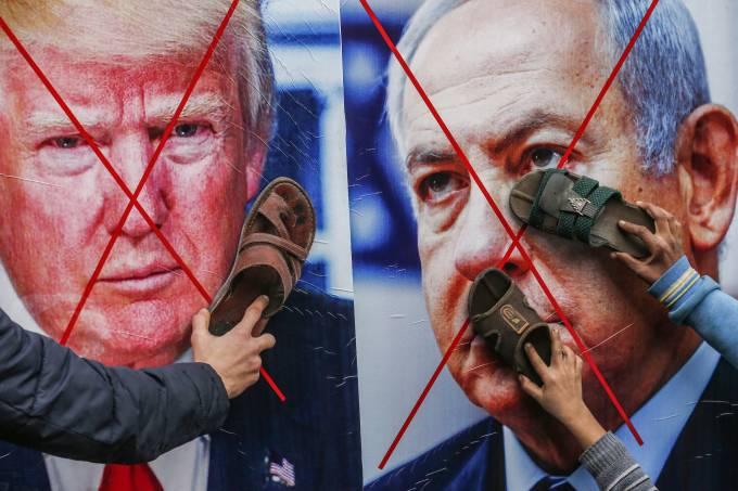 Palestina Protesto Plano de Paz Israel Oriente Médio