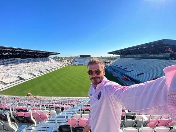 David Beckham no estádio do Inter Miami CF