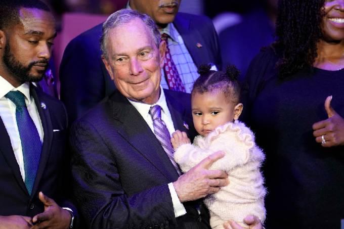 Michael Bloomberg em evento de campanha em Houston