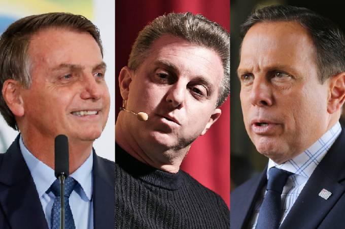 Bolsonaro, Huck e Doria