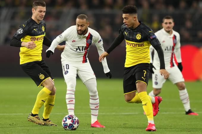 Neymar Liga dos Campeões Borussia Dortmund PSG