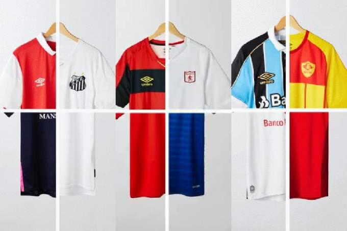 Concurso da Umbro mescla camisas de futebol