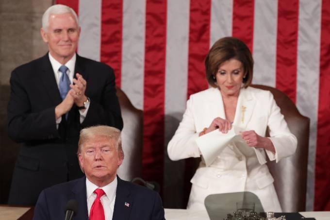 Donald Trump e Nancy Pelosi (1)