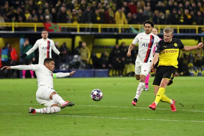 Haaland Borussia Dortmund Paris Saint-Germain Liga dos Campeões