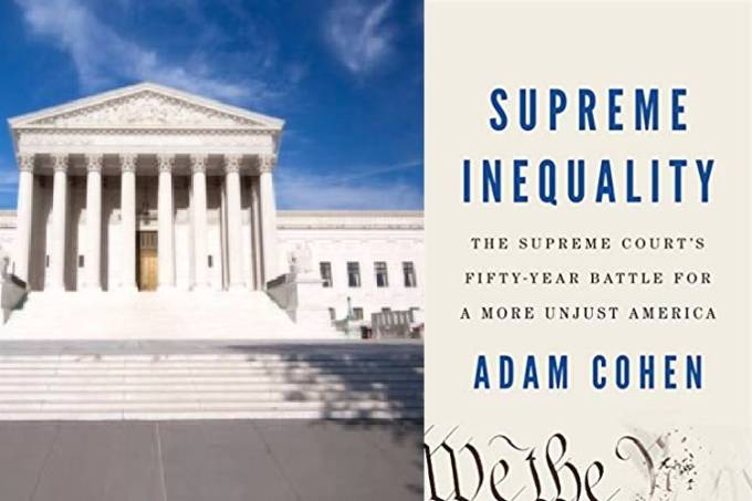 Imagem Suprema Corte + Livro Supreme Inequality