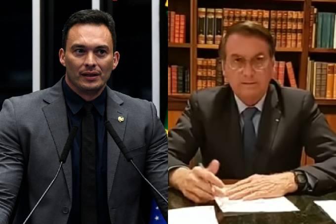 Styvenson Valentim e Jair Bolsonaro