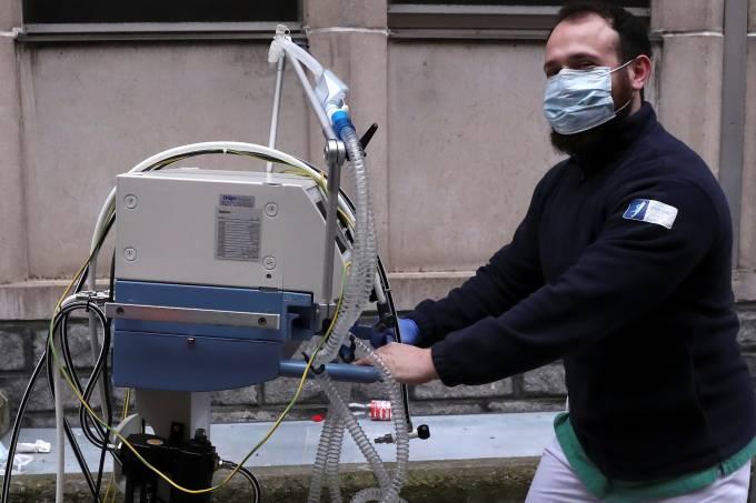 Coronavírus Respirador Bélgica