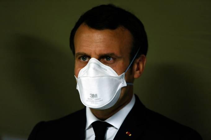 Macron máscara coronavírus