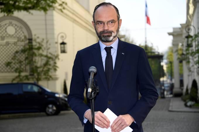 Primeiro-ministro da França, Edouard Philippe, em Paris