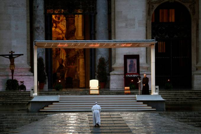 Pope Francis delivers an extraordinary blessing from St. Peter's Square