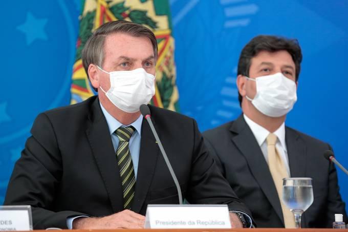 Jair Bolsonaro-Luiz Henrique Mandetta-corona