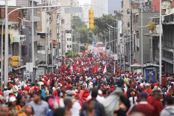 Apoiadores de Nicolás Maduro – Venezuela