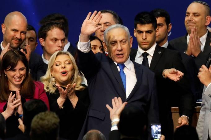 Benjamin Netanyahu comemora vitória (1)