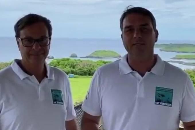 Gilson Machado e Flávio Bolsonaro