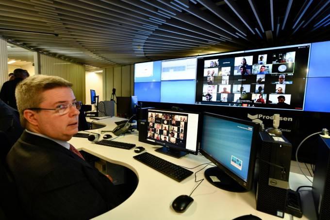 Antonio Anastasia em sessão por videoconferência do Senado