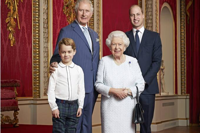 Foto da família real britânica, de 2020