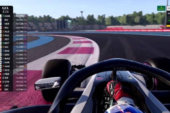 Jogo de videogame da Fórmula 1 erá usado por pilotos reais