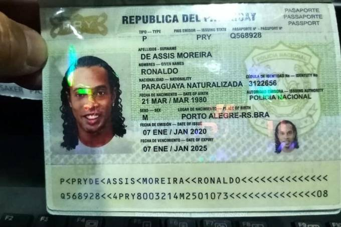 passaporte ronaldinho