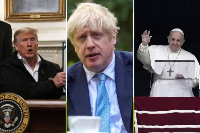 Trump, Boris Johnson e Papa Francisco
