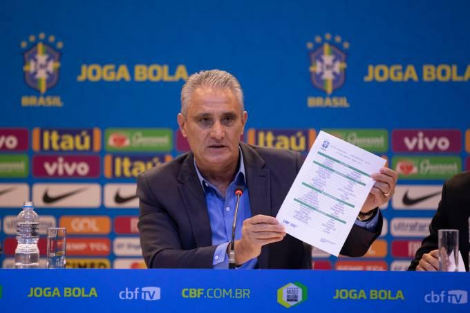Técnico Tite convoca a seleção brasileira