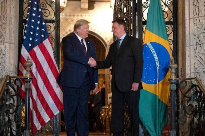 Bolsonaro Trump Aperto de Mãos