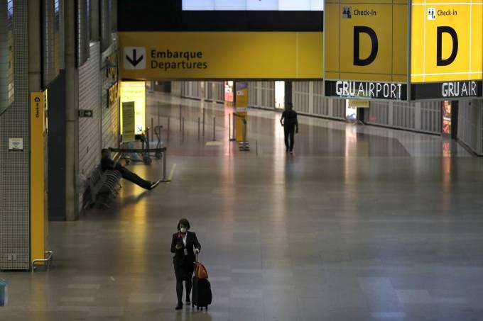 coronavírus aeroporto
