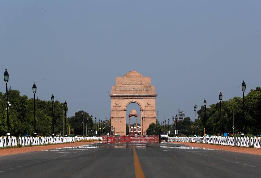 Foto do Memorial Nacional Da Guerra da Índia tirada durante a quarentena imposta pelo governo devido a pandemia do novo coronavírus - 08/04/2020