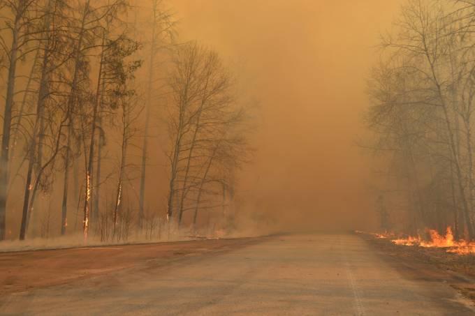 Chernobyl incêndio