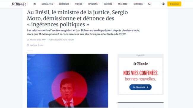 Le Monde Renúncia Moro