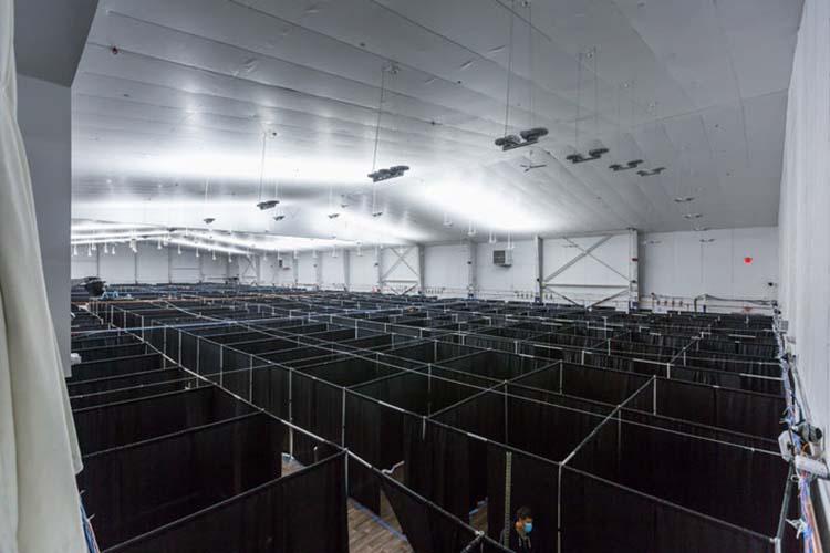 O complexo de tênis Billie Jean King, no Queens, em Nova York, com 470 leitos