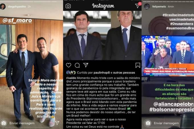 Reprodução Instagram Moro Bolsonaro