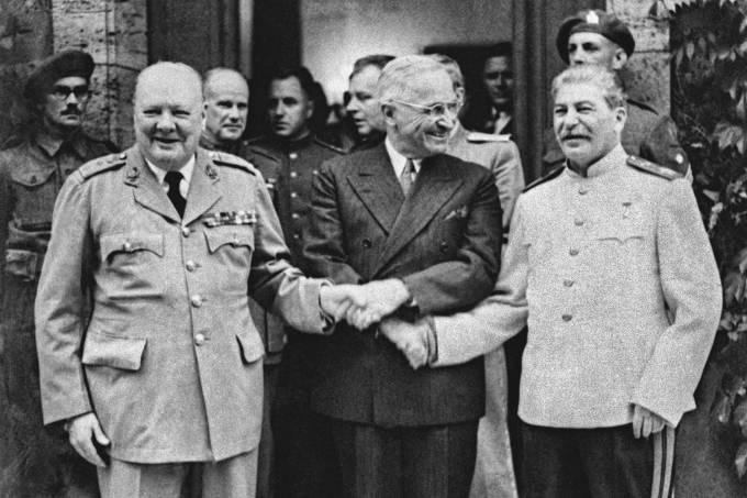 Churchill-Truman-Stalin