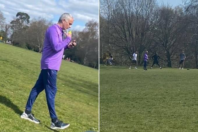 Mourinho – treino coronavírus