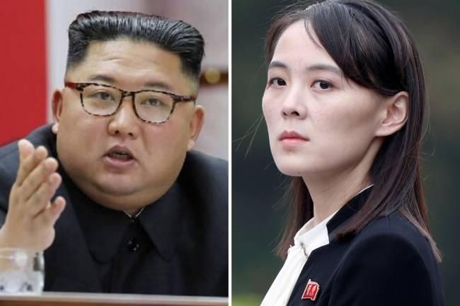 Kim Jong-un e a irmã mais nova, Kim Yo-Jong: na linha de sucessão