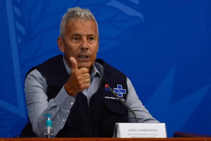 O secretário – executivo do Ministério da Saúde, João Gabbardo dos Reis, durante a divulgação do boletim técnico do Ministério da Saúde e a atualização das ações de enfrentamento ao Coronavírus.