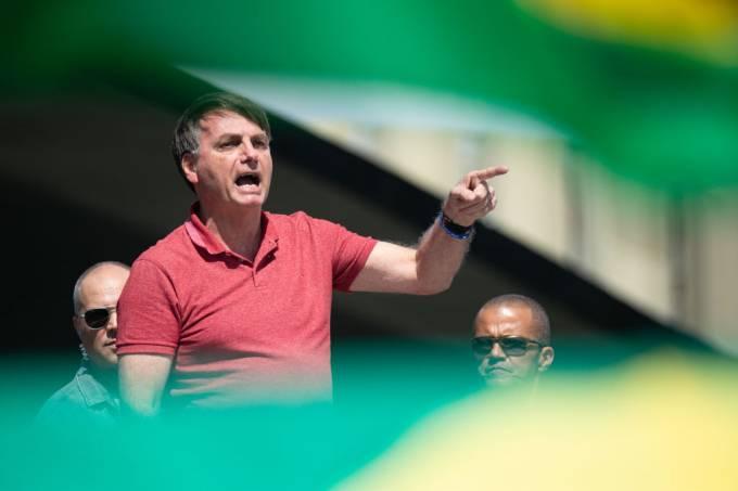 Bolsonaro em protesto