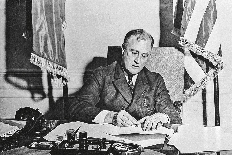 NEW DEAL -Franklin D. Roosevelt, em 1933: investimentos salvaram os EUA